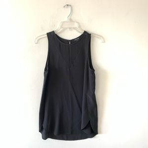 Club Monaco Silk Sleeveless Tunic Length Tank Top